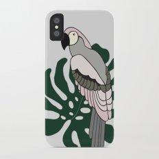 Tropical Parrot iPhone X Slim Case