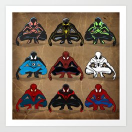 Spider-man - The Year of the Costumes Art Print