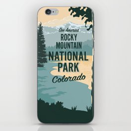 See America Rocky Mountain National Park Travel Poster iPhone Skin