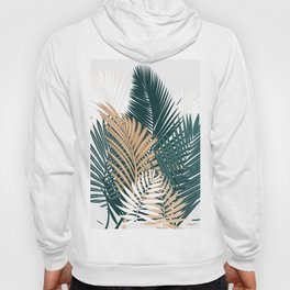 Gold and Green Palm Leaves Hoody