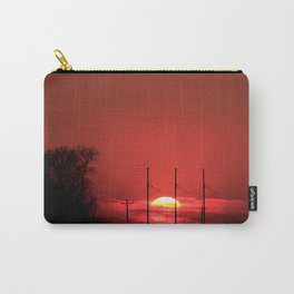 Kansas Red Sunset Carry-All Pouch