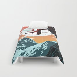 Rock Climbing Girl Vector Art Comforters