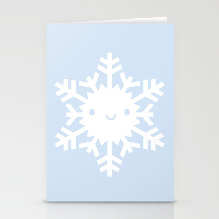 kawaii snowflake stationery cards by marceline society6