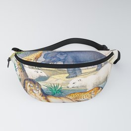 Jungle Friends - Exotic Animals Fanny Pack