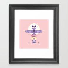 T is for Totem Pole Framed Art Print