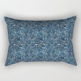 Aqua Blue Aurora Borealis Close-Up Crystal Rectangular Pillow