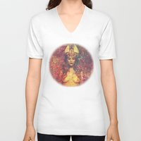 queen V-neck T-shirts featuring Queen by Nechifor Ionut