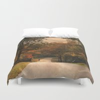 cycling Duvet Covers featuring Cycling Season by Jai Johnson