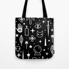 Spirit Symbols Black Tote Bag