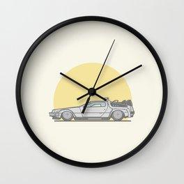Back to the future DMC DeLorean vector illustration Wall Clock