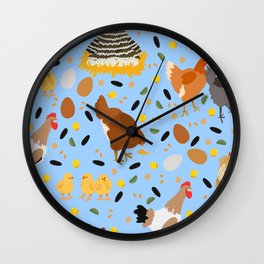 Chicken Chatter Wall Clock