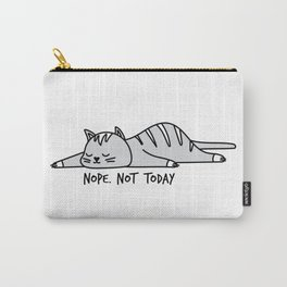 Nope, not today, cute cat Carry-All Pouch