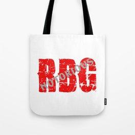 NOTORIOUS RBG - GRUNGE FONT Tote Bag