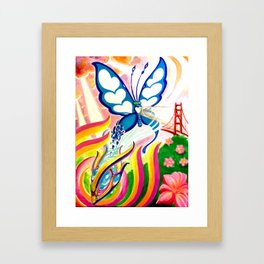 """SF Butterfly"" by Adam France Framed Art Print"