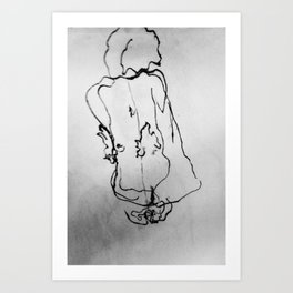 Seated Woman Art Print