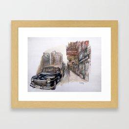 Black car Framed Art Print