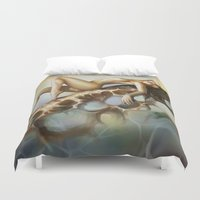 totem Duvet Covers featuring Totem by va-sily