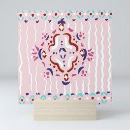 Traditional pattern pastel Mini Art Print