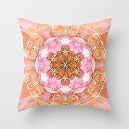 Flower of Life Mandalas 18 Throw Pillow
