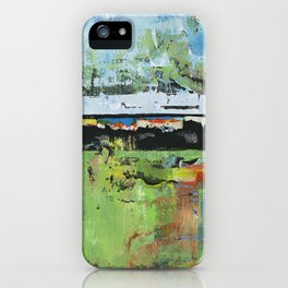 Salvation Green Abstract Contemporary Artwork Painting iPhone Case