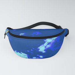 Abstract landscape Blue tree clouds Fanny Pack