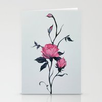 Stationery Cards featuring rose by loish