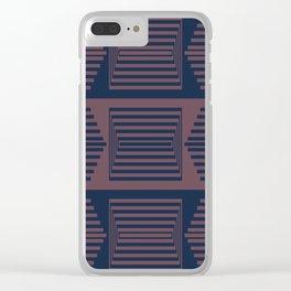 Bicolor Geometric I Clear iPhone Case