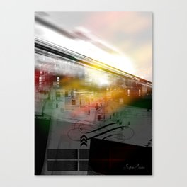 Textured type with light Canvas Print