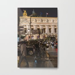 Opera Garnier night Metal Print