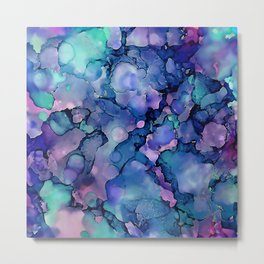 Abstract Alcohol Ink Painting 2 Metal Print