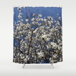 Lewes trees Shower Curtain