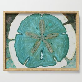 Sand Dollars Ocean Colors Serving Tray
