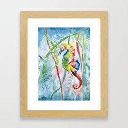 Colorful Seahorse Framed Art Print