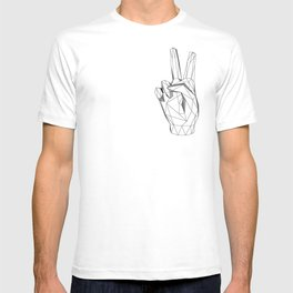 Geometric Peace sign T-shirt