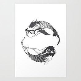 Hipster Koi Art Print