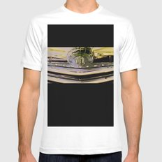 The Old Pontiac White Mens Fitted Tee SMALL