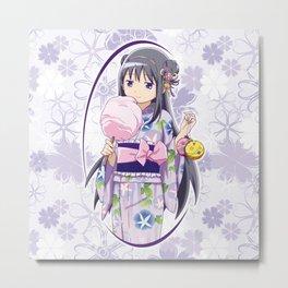 Homura Akemi - Yukata edit. (rev. 1) Metal Print
