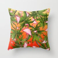 tropical Throw Pillows featuring tropical  by mark ashkenazi