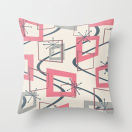 Mid Century Modern Minimalism Throw Pillow