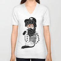 dreamer V-neck T-shirts featuring Dreamer by Anya Volk