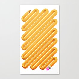 Curved Pencil Canvas Print