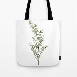 Baby Blue Eucalyptus Watercolor Painting Tote Bag