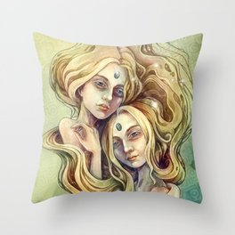 Zodiac Gemini Throw Pillow