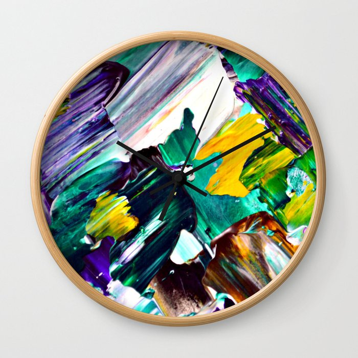 Green Intersections Wall Clock