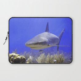 Shark Swimming Into Shot Laptop Sleeve