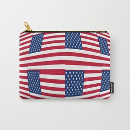 flag of the usa – tribute to Vasarely Carry-All Pouch