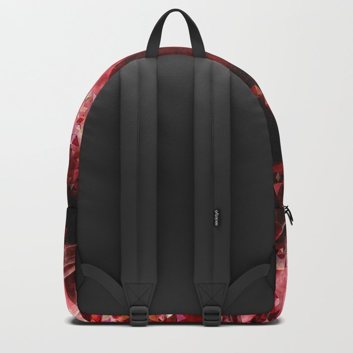 Dark hell- geometrical triangle - modern red backdrop on #Society6 Backpack