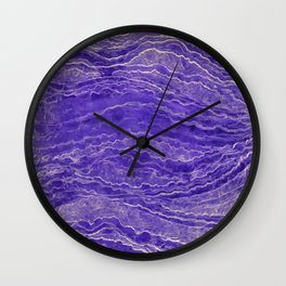 Violet watercolor marble Wall Clock