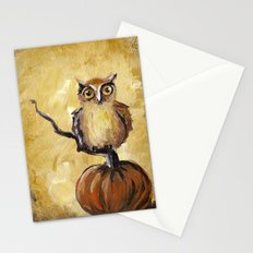 Fall Owl Stationery Cards
