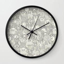 pencil pinatas ivory Wall Clock